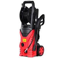 Costway 2030PSI Electric Pressure Washer Cleaner 1.7 GPM 1800W with Hose Reel Red