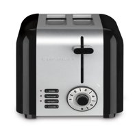 Cuisinart 2-Slice Compact Stainless Steel Toaster, Black Stainless
