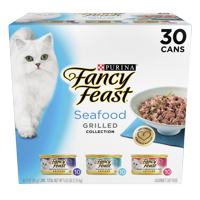 Fancy Feast Grilled Seafood Collection Wet Cat Food Variety Pack - (30) 3 oz. Cans