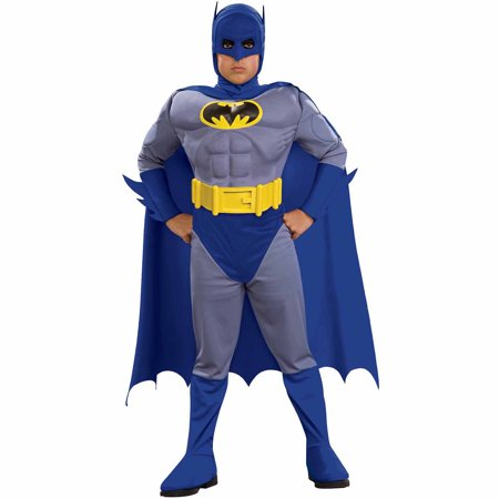 Batman Brave Muscle Child Halloween Costume - Padded Batman Costume