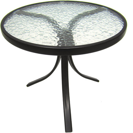 Mainstays Round Outdoor Glass Top Side Table (00 Patio Table)
