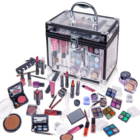 SHANY Carry All Trunk Makeup Set (Eye shadow palette/Blushes/Powder/Nail Polish and more) - Old Lady Makeup