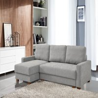 Lucas Serta® 3-Seat Functional Sectional Sofa w/ Storage, Light Grey