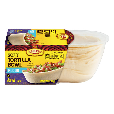 (2 Pack) Old El Paso Soft Flour Tortilla Taco Boats, 8 Ct, 6.7 (Low Fat Flour Tortillas)