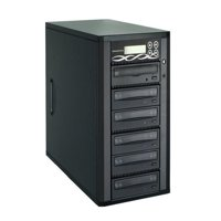 Spartan Edge 1 to 5 Target Multiple DVD/CD Disc Copy Tower Duplicator with 24x Writer Burners (Standalone Video & Audio Back-Up Duplication System) D05-SSP