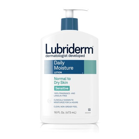 Lubriderm Daily Moisture Body Lotion for Sensitive Skin, 16 fl. oz