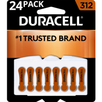 Duracell Hearing Aid Batteries with Easy-Fit Tab Size 312 24 Pack