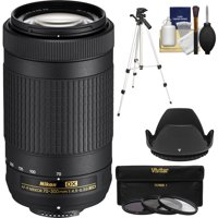 Nikon 70-300mm f/4.5-6.3G DX AF-P ED Zoom-Nikkor Lens - Factory Refurbished with 3 UV/CPL/ND8 Filters + Hood + Tripod + Kit