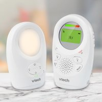 VTech DM1211 Enhanced Range Digital Audio Baby Monitor with Night Light, 1 Parent Unit, Silver & White
