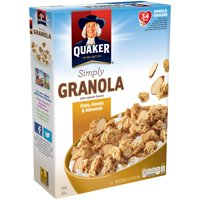 (2 Pack) Quaker Simply Granola, Oats, Honey & Almonds, 28 oz Box