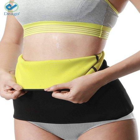 Deago Women & Men Body shaper Neoprene Slimming Belt Tummy Waist Control Shapewear, Hot Sweat Stomach Fat Burner Trainer Workout Sauna Gym Suit Cincher