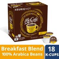 McCafé Breakfast Blend Coffee K-Cup Pods, 18 count
