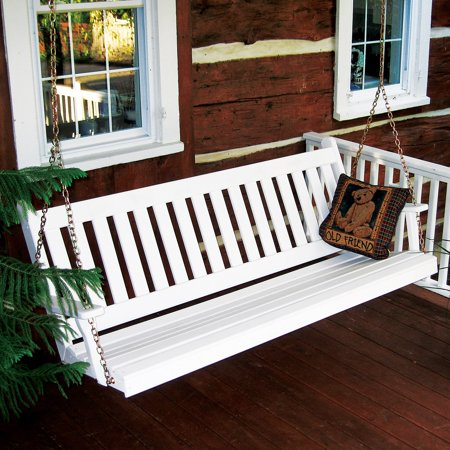 A & L Furniture Yellow Pine Traditional English Porch Swing ()