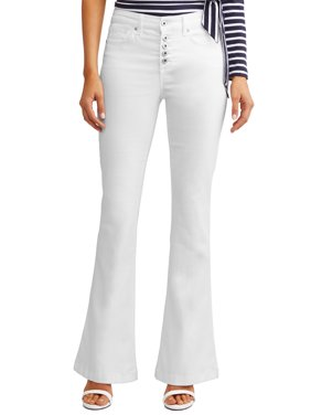 Melisa High Waist Stretch Flare Jean Women's (White)