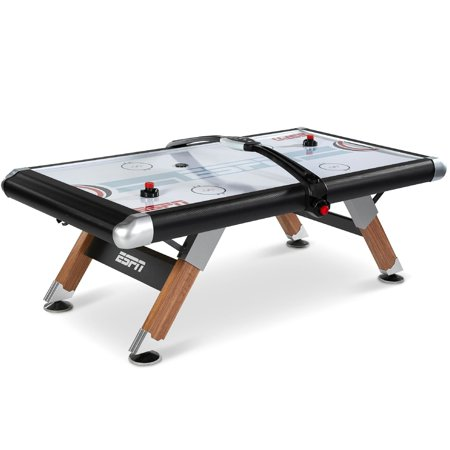 Espn Belham Collection 8 Ft Air Powered Hockey Table With Overhead Electronic Scorer And Table Cover Black Walmart Com