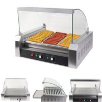 Ktaxon Commercial 30 Hot Dog 11 Roller Grill HotDog Cooker Machine W/ Cover