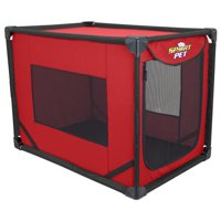 Sportpet Portable Dog Kennel , Travel dog crate , Size Large , ( For Kennel Trained Pet Only)
