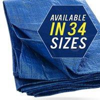 Tarp Cover 5X7 Blue, Waterproof, Great for Tarpaulin Canopy Tent, Boat, RV or Pool Cover!!!