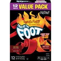 (2 Pack) Betty Crocker Fruit By The Foot Sweet And Fiery Fruit Flavored Snacks Fiery Peach, Spicy Watermelon, 0.75 OZ