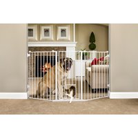 Carlson Flexi Gate Extra Tall 38 in. Walk-Thru Gate with Pet Door