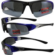c12a6b4e89 Global Vision Cool Breeze 2 Safety Sunglasses Blue and Black Frames Flash  Mirror Lenses ANSI Z87