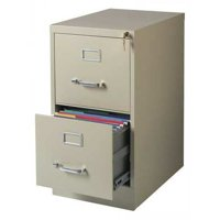 Hirsh 22-inch Deep 2-Drawer, Letter-Size Vertical File Cabinet, Putty