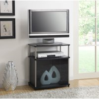 """Convenience Concepts Designs2Go No Tools TV Stand with Black Glass Cabinet for TVs up to 25"""", Multiple Colors"""