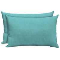 Mainstays Outdoor Patio Lumbar Toss Pillow, Set of 2, Multiple Patterns