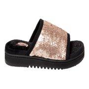 DF by Dearfoams Woman's Reversible Sequin Slide Slippers