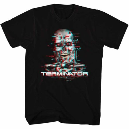 Terminator Movies Glitch Adult Short Sleeve T Shirt