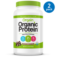 (2 Pack) Orgain Organic Vegan Protein Powder, Chocolate, 21g Protein, 2.0 Lb
