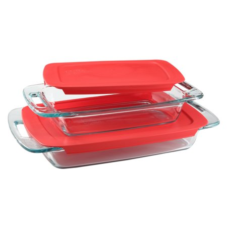 Pyrex Easy Grab Oblong Baking Dish Set, 4 Piece