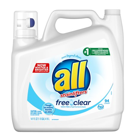 All Laundry Detergent Free Amp Clear For Sensitive Skin 141