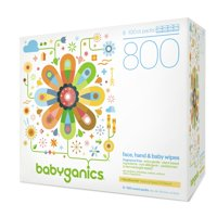 Babyganics Face, Hand & Baby Wipes, Fragrance Free (800 count)