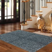 Mohawk Home Eyelash Blue Shag Rug, Multiple Sizes