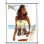 ccac8f81f5fa Phoebecat Sleeveless Tube Tops for Women, PCH3129YS Sexy Floral Print  Blouse for Women, Halter