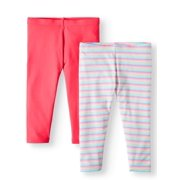 a826e2804 Solid and Printed Tough Cotton Capri Leggings, 2-Pack (Little Girls & Big