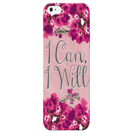 Floral Pink I Can I Will Quote Pretty Cute Phone Case - For Apple iPhone 6 Plus Phone Back Cover](where can i get an iphone 6 unlocked)