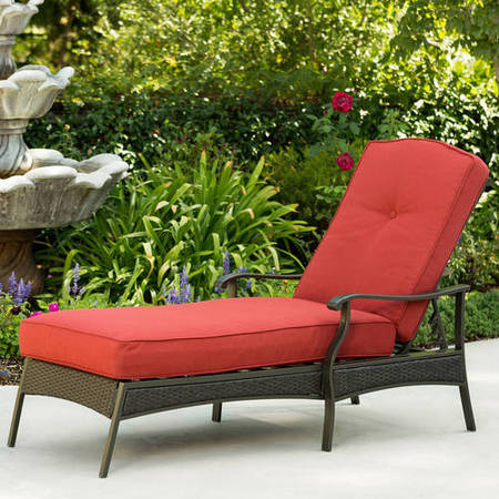 Better Homes and Gardens Providence Outdoor Chaise Lounge, Red