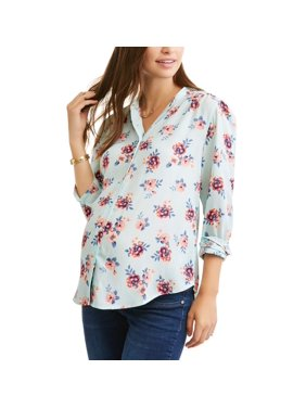 Maternity Button-Front Printed Shirt