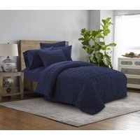 Mainstays Seersucker Bed in a Bag Complete Bedding Set