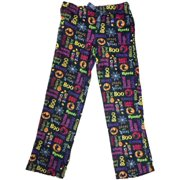 efcddadcb4 Womens Black Halloween Fleece Sleep Pants Boo Gimme Candy Pajama Bottoms