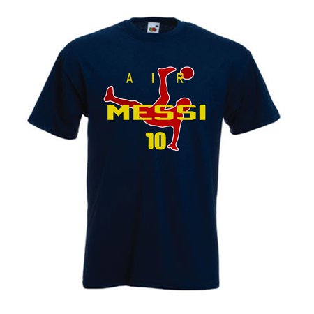 "Shedd Shirts Navy Lionel Messi FC Barcelona ""Air Messi"" Youth Medium T-Shirt"