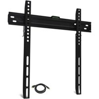 "ONN Low-Profile, Universal Wall Mount for 19"" to 60"" Flat-Panel TVs with HDMI Cable (ONA16TM012E)"