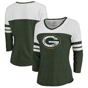 Green Bay Packers NFL Pro Line by Fanatics Branded Women s Distressed Primary  Logo Three-Quarter ef2a79632