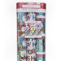 3 Roll Reversible Foil Christmas Gift Wrap