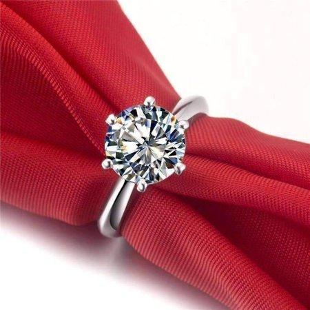 ON SALE - Astra 2CT Round Cut IOBI Simulated Diamond Ring 4.5 ()