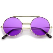 28756f94888c Mid Size Flip-Up Colored Lens Round Django Sunglasses 49mm