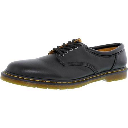 Dr. Martens Men's 8053 Lace-Up Black Ankle-High Leather Oxford Shoe - 12M - Kids Red Dr Martens