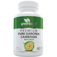 Green Label - Garcinia Cambogia 100% Pure Extract + 95% HCA, Natural Fast Acting Fat Burner, Carb Blocker + Slimming Aid, Appetite Suppressant + Weight Loss Pills, For Women + Men, 1-Pack